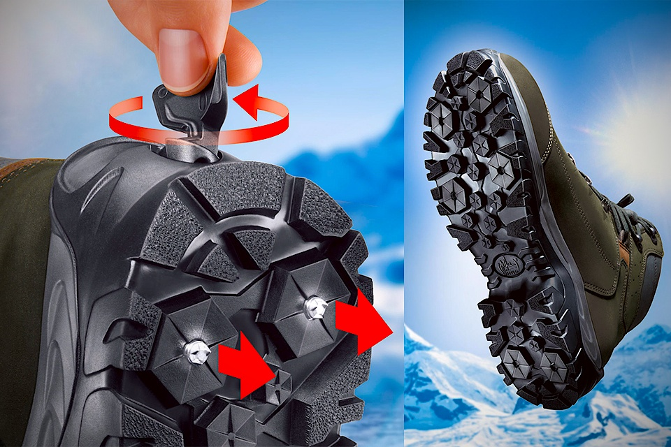 Meindl Spikes Boots With Retractable Spikes Grumpyfoot
