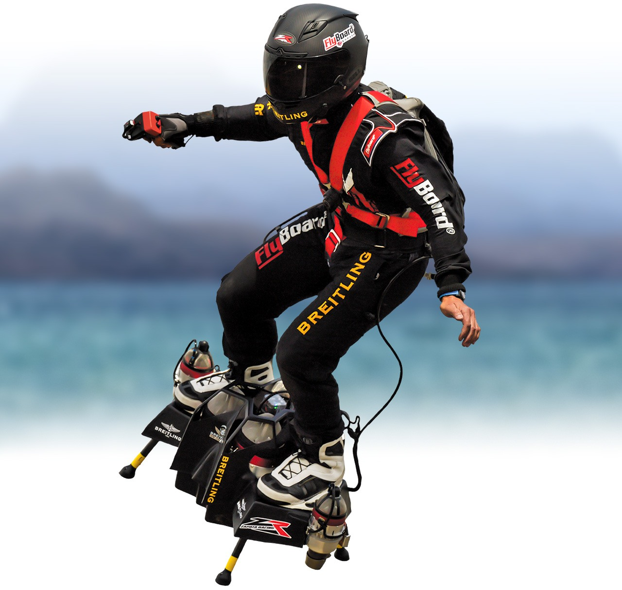 flyboard air ride over body of water