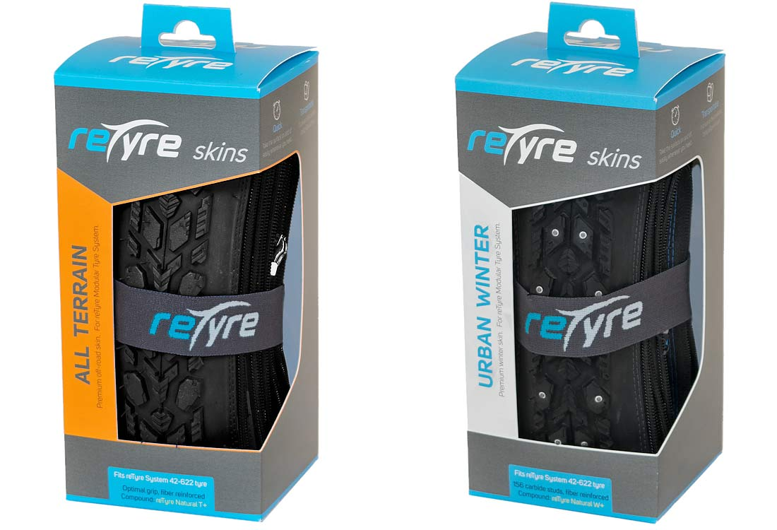 Retyre Urban Winter and All Terrain in its box