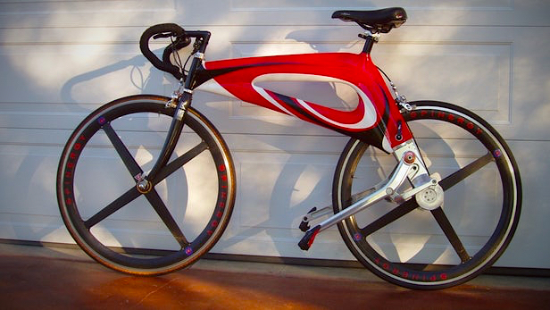Nubike viewed from the side